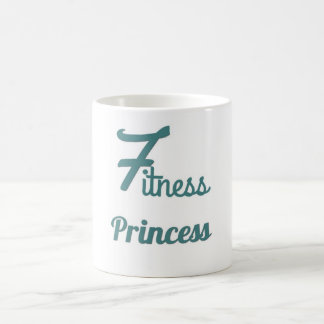 Taza de café de la princesa de la aptitud