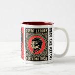 Taza de café de la propaganda del maullido del pre