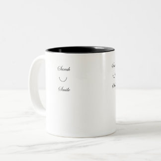 Taza de café de la sonrisa de Sarah