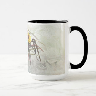 Taza de café de la tabla del girasol