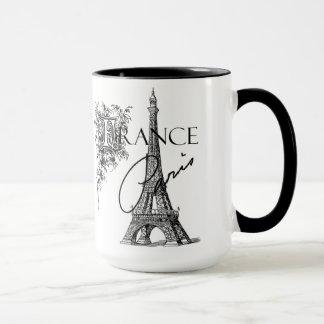 Taza de café de la torre Eiffel de París del
