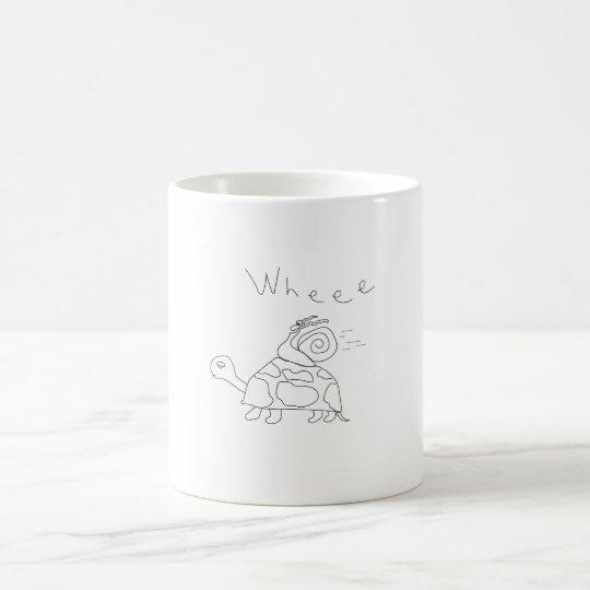 Taza de café de la tortuga de la raza