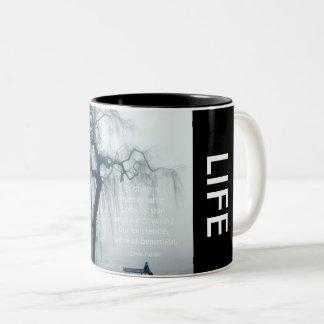 """Taza de café de la """"vida hermosa"""" del *Designer"""