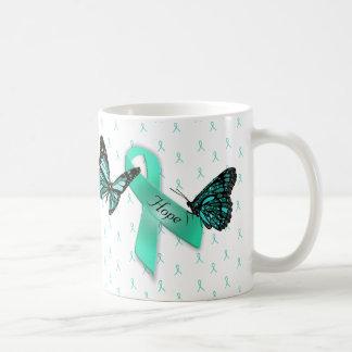 Taza de café de las cintas del trullo de la
