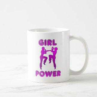 Taza de café de las hembras de los artes marciales