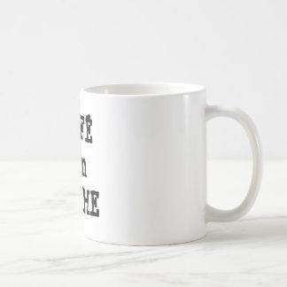 Taza de café de Leche de la estafa del café