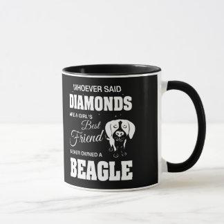 Taza de café de los diamantes