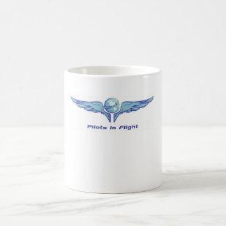 Taza de café de los pilotos en vuelo