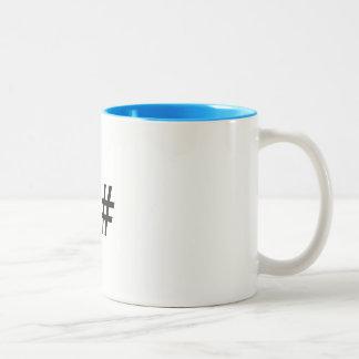 Taza de café de los programadores del software de