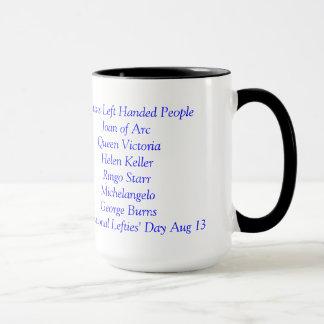 Taza de café de los zurdos solamente