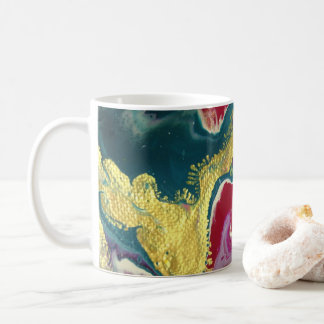 Taza de café de mármol del remolino