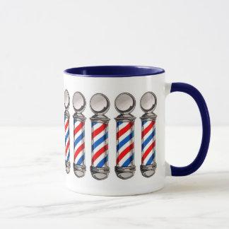 Taza de café de poste del peluquero