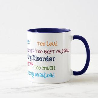 Taza de café de proceso sensorial del desorden