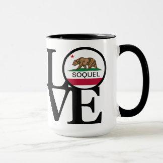Taza de café de Soquel California 15oz del AMOR