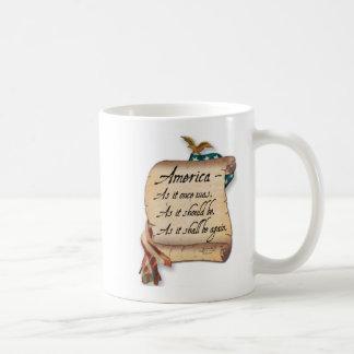 "Taza de café ""de una tostada americana"""