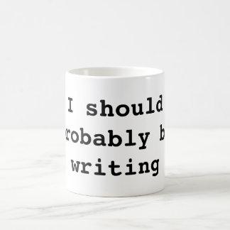 Taza De Café Debo escribir probablemente