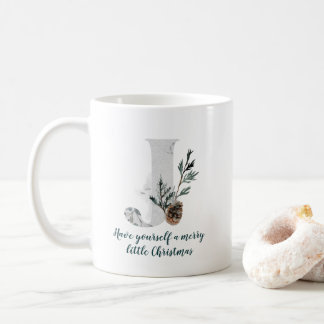 Taza de café del alfabeto de la letra J del