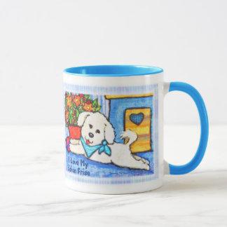 Taza de café del amor del perro de Bichon