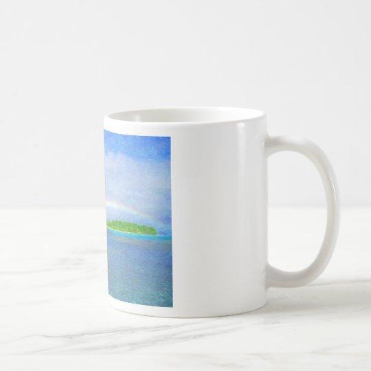 Taza de café del arco iris de Fiji