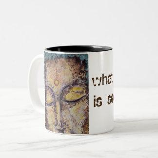 Taza de café del arte de Buda de la cita de Rumi