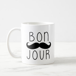 TAZA DE CAFÉ DEL BIGOTE DEL BON JOUR