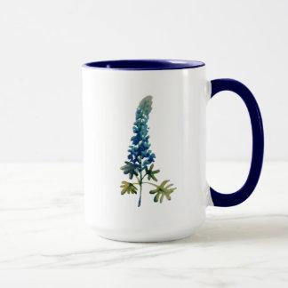 Taza de café del Bluebonnet de la acuarela