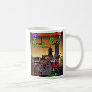 Taza de café del camino del zombi