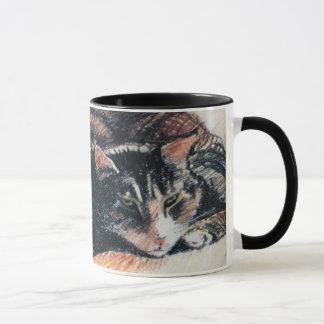 Taza de café del campanero del gato de Tabby, 11