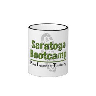 taza de café del campo de bota del saratoga
