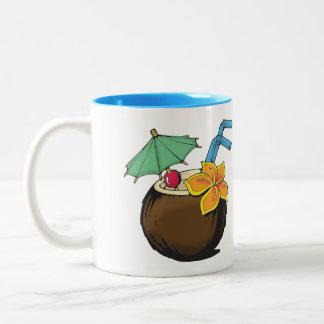 Taza de café del coco