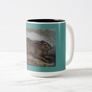 Taza de café del conejito de pascua del estilo del