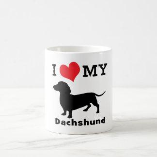 Taza de café del Dachshund de los mini hermanos
