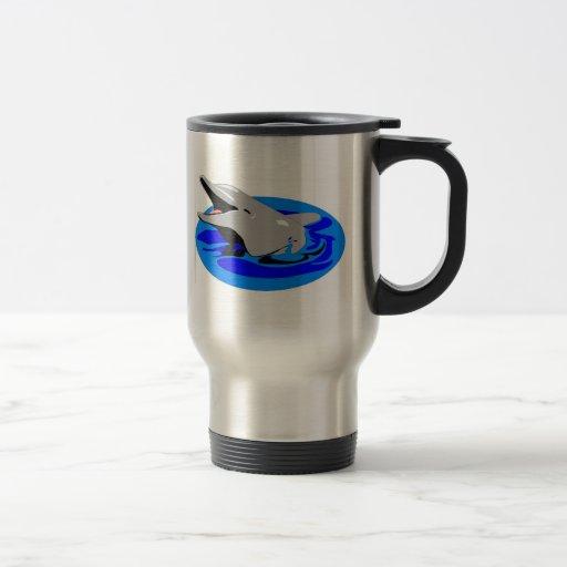 Taza de café del delfín - acero inoxidable