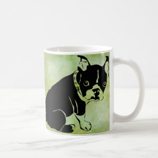 Taza de café del dogo francés de Brad Hines
