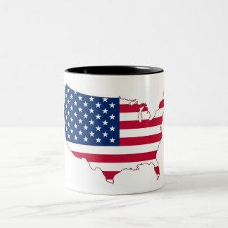 Taza de café del Dos-Tono de la bandera de los