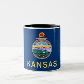 Taza de café del Dos-Tono de la bandera del estado