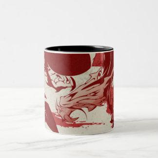 Taza de café del dragón de la sangre