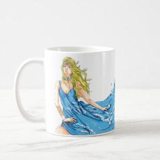Taza de café del duende del agua de la fantasía