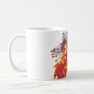 Taza de café del duende del fuego de la fantasía