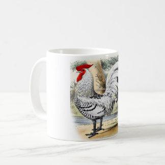 Taza de café del gallo, decoración de la casa de