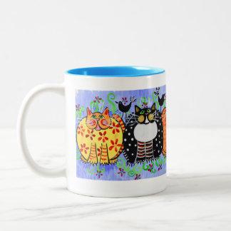 Taza de café del gatito - gato de calicó - gato de