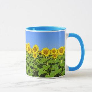 Taza de café del girasol