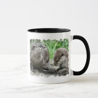Taza de café del hábitat de la nutria