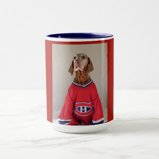 Taza de café del hockey de los canadienses de