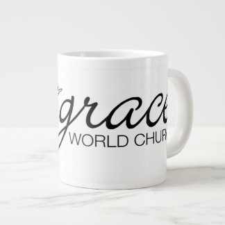 Taza de café del logotipo de la iglesia del mundo