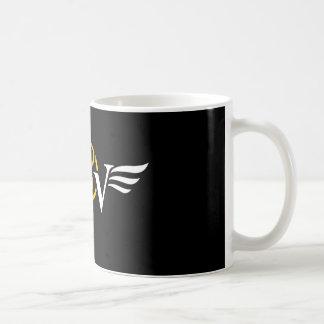 Taza de café del logotipo del ala del café del