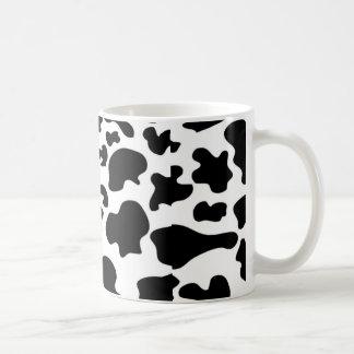 Taza de café del modelo de la vaca