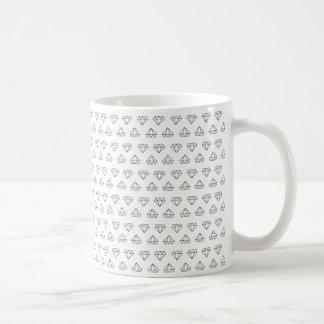 Taza de café del modelo del diamante