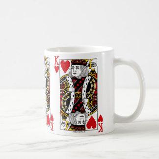 Taza de café del naipe de rey Of Hearts