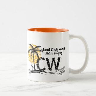 Taza de café del oeste del club de la isla